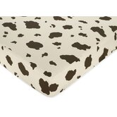 Wild West Cowboy Collection Fitted Crib Sheet - Cow Print