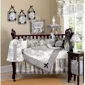 Black French Toile Crib Bedding Collection