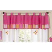 Butterfly Pink Orange Window Valance