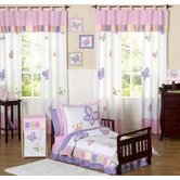 Butterfly Pink Purple Toddler Bedding Collection