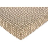 Teddy Bear Chocolate Collection Fitted Crib Sheet  - Plaid Print
