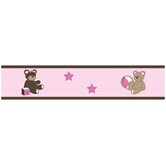 Teddy Bear Pink Wallpaper Border