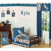 Surf Blue and Brown Toddler Bedding Collection