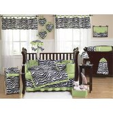 Lime Funky Zebra Crib Bedding Collection