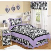 Zebra Purple Collection 3pc Full/Queen Bedding Set