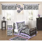 Purple Funky Zebra 5 Piece Toddler Bedding Set