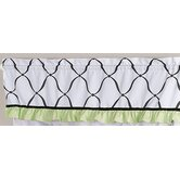 Princess Black, White and Green Collection Window Valance