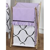 Purple, Black and White Princess Laundry Hamper