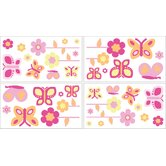 Butterfly Pink and Orange Wall Decals Sheets (Set of 4)