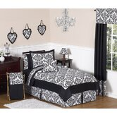 Isabella Full / Queen Bedding in Black / White