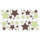 Green and Brown Hotel Wall Decals - Set of 4 Sheets
