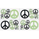 Peace Green Collection Wall Decal Stickers