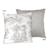 Black Toile Collection Decorative Pillow