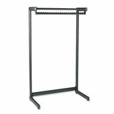 Wide Single Side Garment Rack with Shelf in Black Powder Coat