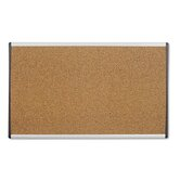 Cubicle Arc Frame Colored Cork Board with Tan with Aluminum Frame