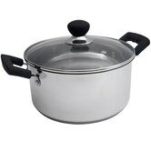 Easy Grip 24cm Casserole Pan in Stainless Steel