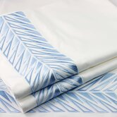 Embroidered Sicily Sheet Set in Angel Blue and White