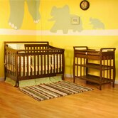 Athena Amy Two Piece Convertible Crib Set in Espresso