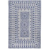 Smithsonian Ivory/Blue Rug