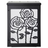 Rose Vertical Wall Mounted Mailbox