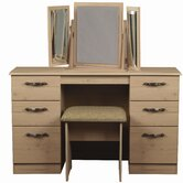 Glacier Kneehole Dressing Table Set