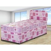 Hearts Slidestorage Divan Bed