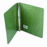 Recycled Presstex Round Ring Binder, 1in Capacity, Dark Green