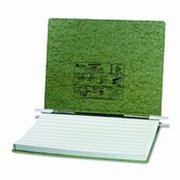 Pressboard Hanging Data Binder, 14-7/8 x 11 Unburst Sheets, Dark Green