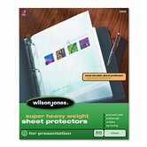 Wilson Jones Super Heavy Weight Sheet Protector, 50/Box