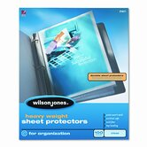 Wilson Jones Heavy Weight Sheet Protector, 100/Box