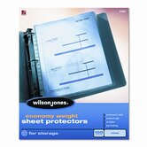 Wilson Jones Economy Weight Sheet Protector, 100/Box