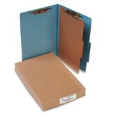 Pressboard 25-Pt. Classification Folders, Legal, Four-Section, 10/Box