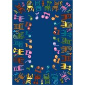 Educational Musical Chairs Alphabet Kids Rug