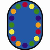 Educational ey Joey, Round Lots of Dots Kids Rug