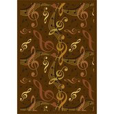 Whimsy Virtuouso Brown Kids Rug