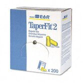 3M E-A-R Taperfit 2 Self-Adjusting Earplugs, Uncorded, Foam, 200 Pairs/Box