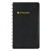 Weekly Planner, Shirt Pocket Size, 2-1/2 x 4-1/2, Black, 2013