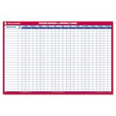 Reversible/Erasable 12-Month Vacation Planner, 36 x 24, White