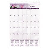 Floral Images Monthly Wall Calendar, 15-1/2 x 22-3/4, 2013