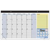 Monthly Desk Pad, Ruled Blocks, July-July, 1 Page per Month, 17-3/4&quot;x10-7/8&quot;, 2013