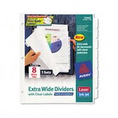 Index Maker Clear Label Dividers, 8-Tab, 11 1/4 X 9 1/4, 5 Sets