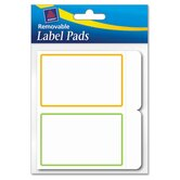 Removable Label Pads, 2 x 3, Assorted, 80/Pack