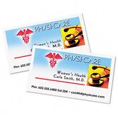 Clean Edge Laser Business Cards, 2 x 3-1/2, White, 10 per Sheet, 200 Cards/Pack