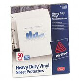 Top-Load Vinyl Sheet Protectors, Heavy Gauge, Letter, Clear, 50/box