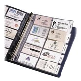 Business Card Pages, Tabbed, Holds 100 2&quot;x3-1/2&quot; DS., Clear