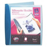 "Silhouette Flexible Poly View Binder, 1"" Capacity, Dark Blue"
