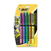 Brite Liner Grip Highlighter, Chisel Tip, Five Fluorescent Colors per Set