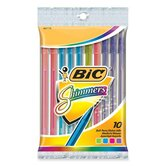 Shimmers Stick Pen, Medium Point, 10 per Pack, Assorted