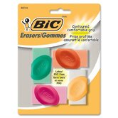 Contoured Comfortable Grip Eraser (Set of 4)