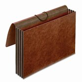 "Globe-Weis 3.5"" Expansion Accordion Wallet, Straight, Redrope, Legal"